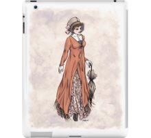 Miss Phoebe Churcham - Regency Fashion Illustration iPad Case/Skin