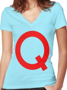 Quailman Shirt | By Douglas FRESH (AKA Doug Funny) Women's Fitted V-Neck T-Shirt