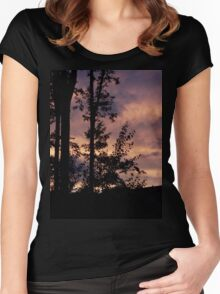 Early September Dusk Women's Fitted Scoop T-Shirt