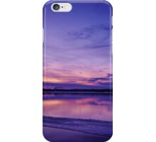 Winter landscape with ice iPhone Case/Skin