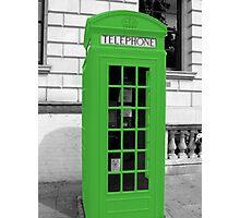 Green Phonebox Photographic Print