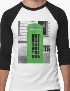 Green Phonebox Men's Baseball ¾ T-Shirt
