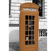 Orange Phonebox Photographic Print