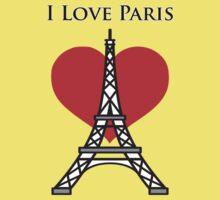 I Love Paris Kids Tee