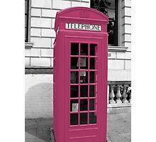 Pink Phonebox Photographic Print