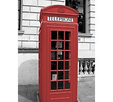 Red Phonebox Photographic Print