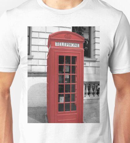 Red Phonebox Unisex T-Shirt