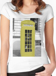 Yellow Phonebox Women's Fitted Scoop T-Shirt