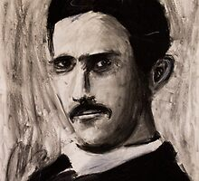 Nikola Tesla by Followthedon