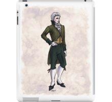 The Earl of Mooresholm - Regency Fashion Illustration iPad Case/Skin