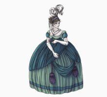 Viscountess Garvestone - Regency Fashion Illustration One Piece - Short Sleeve