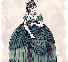 Viscountess Garvestone - Regency Fashion Illustration by Shakoriel