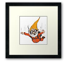 Extreme Sport Gnome Framed Print