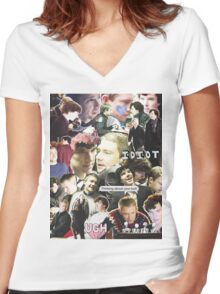 sherlock & john Women's Fitted V-Neck T-Shirt