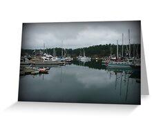 """Still Waters"" - Ganges Harbour, Salt Spring Island Greeting Card"