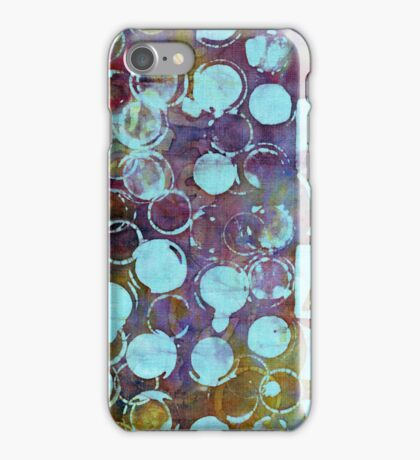 Colorful hand batiked fabric by Pitney Hemp and Design iPhone Case/Skin