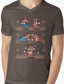 Tanooki Fusion Mens V-Neck T-Shirt