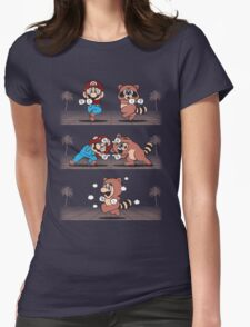 Tanooki Fusion Womens Fitted T-Shirt