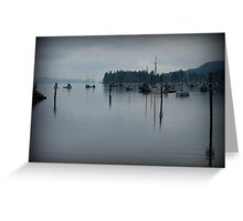 """Peaceful Waters"" - Ganges Harbour, Salt Spring Island Greeting Card"
