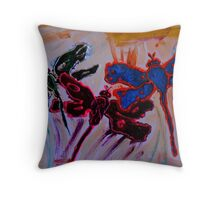 abstract dragonflies Throw Pillow