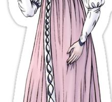 Lady Tabitha Newick - Regency Fashion Illustration Sticker