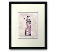 Lady Tabitha Newick - Regency Fashion Illustration Framed Print