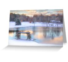 Winter Comes to Weaver Pond Greeting Card