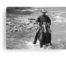 Howqua River rider Canvas Print