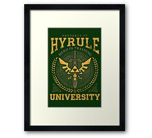 Hyrule University Framed Print
