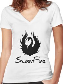 OUAT - SwanFire Women's Fitted V-Neck T-Shirt