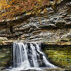 Scenic Autumn Waterfall by Kenneth Keifer