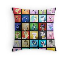The Cast Throw Pillow