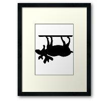 Upside Down Moose Framed Print