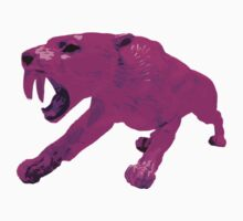 Pink Smilodon / Sabertooth Design by strayfoto