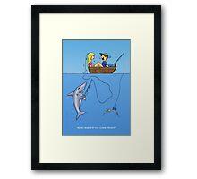 Shark Bait Framed Print