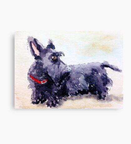 Scottie Dog Canvas Print