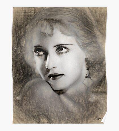 Bette Davis Sketch Poster