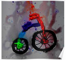abstract bicycle Poster