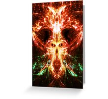 Fractal Flame Skull Greeting Card