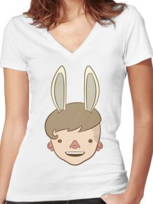 Bunny Bunny Bunny Bunny BUH-NEH! Women's Fitted V-Neck T-Shirt