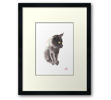 Delicate watercolour of Moo-Chi Framed Print