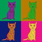 Grumpy and Annoyed Cat Pop Art by ibadishi