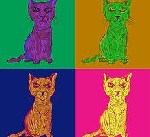 Grumpy and Annoyed Cat Pop Art by ibadishi