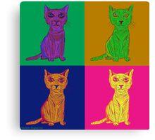 Grumpy and Annoyed Cat Pop Art Canvas Print