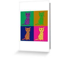 Grumpy and Annoyed Cat Pop Art Greeting Card