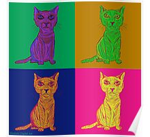 Grumpy and Annoyed Cat Pop Art Poster