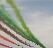 BUON NATALE CARI AMICI DI REDBUBBLE--DALLE TRICOLOR FLEW-------ITALY by Guendalyn