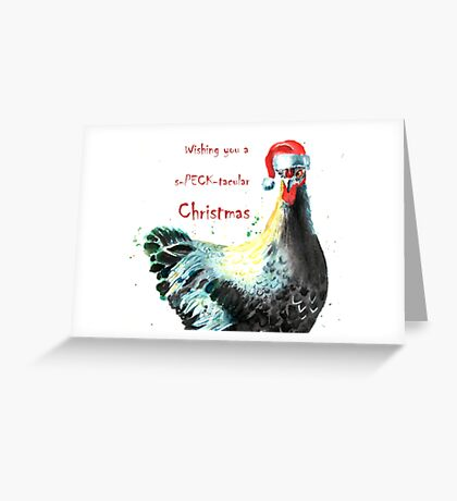 Chicken Christmas Card Greeting Card