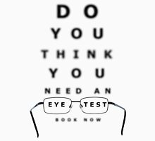 Eye Examination Chart Women's Fitted Scoop T-Shirt