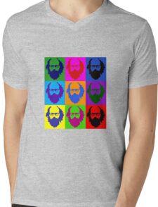Allen Ginsberg b/w Andy Warhol Mens V-Neck T-Shirt